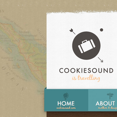 Cookiesound Travel Blog Screendesign