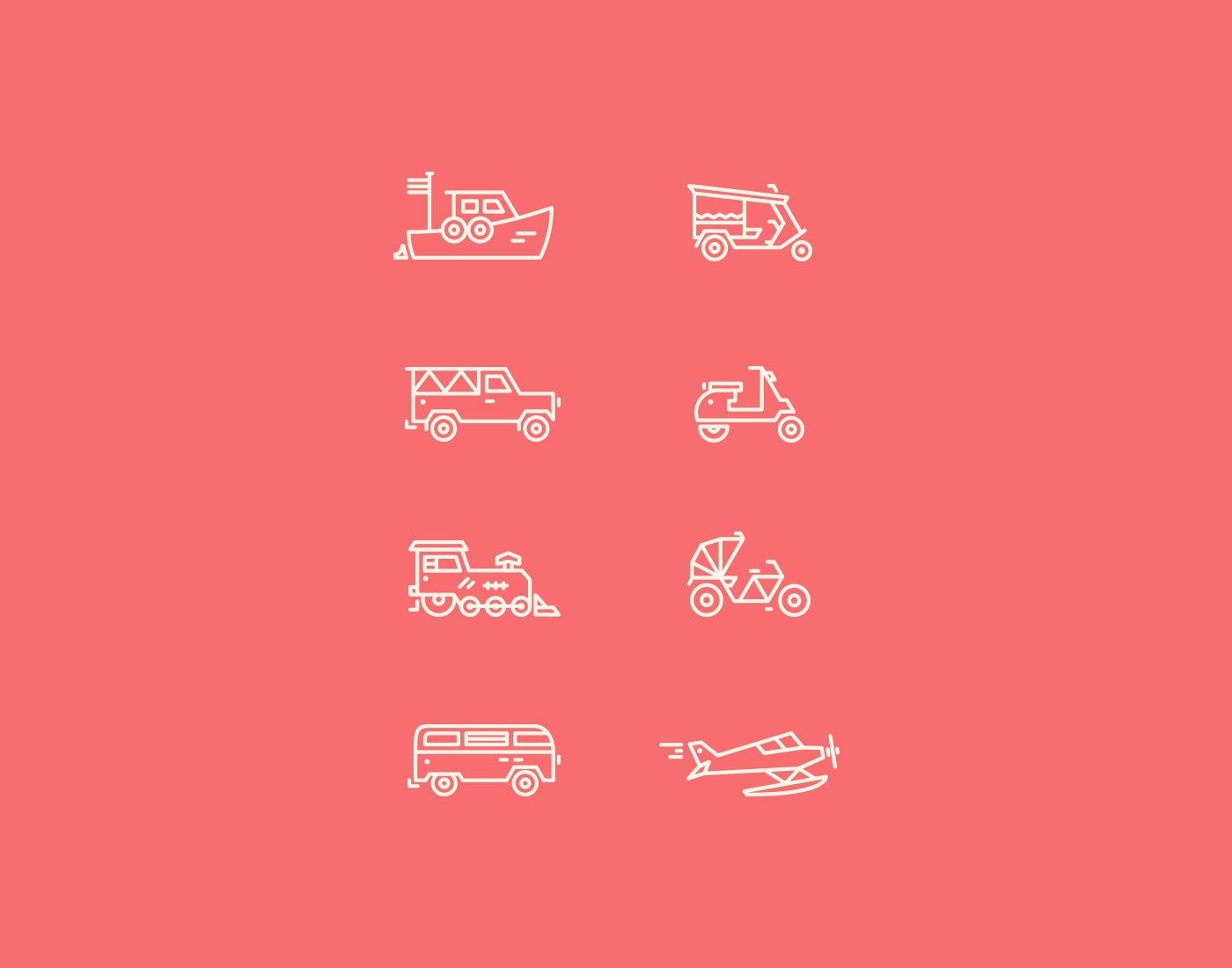Let's Travel Somewhere Travel Iconset